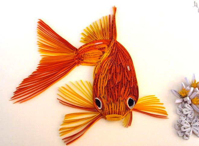 quilling-poisson-rouge