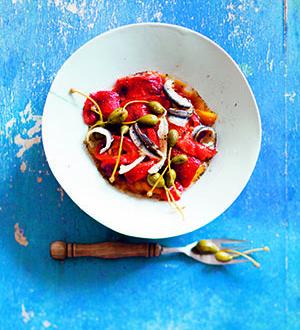 Recette de poivrons et anchois