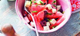 Recette de salade de pastèque, feta et olives noires